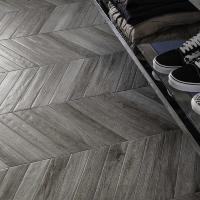 Chevron Vintage Grey Angle Wall and Floor Tile 7.5x45cm