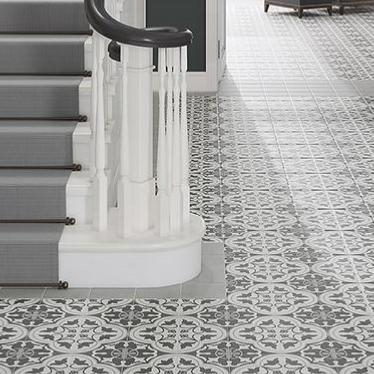 Verona Crafted Cement Heritage Pattern Glazed Porcelain 185x185mm