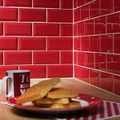 Metro Red Wall Tile 10x20cm