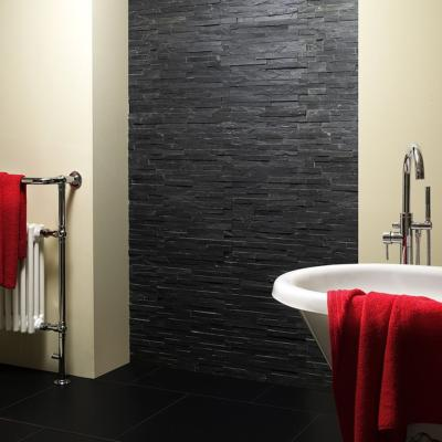 Splitface Black  Natural Slate Cladding 10x36cm