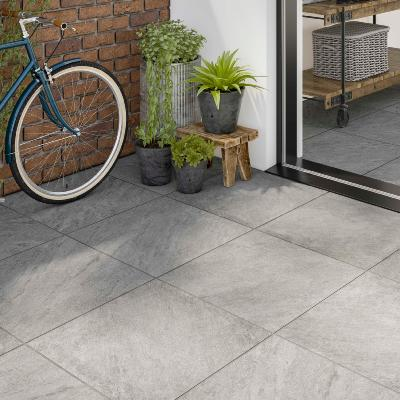 I'pietra Westbury Grey Glazed Porcelain W&F Tile 600x600mm