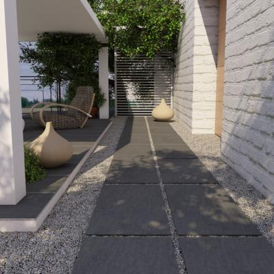 Krakow Anthracite Outdoor Porcelain Tile 60x60cm