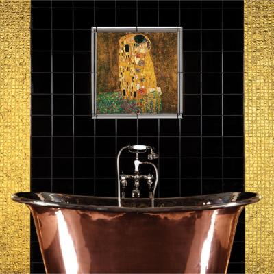 Original Style Artworks Field Tile Jet Black Gloss 15.2x15.2cm