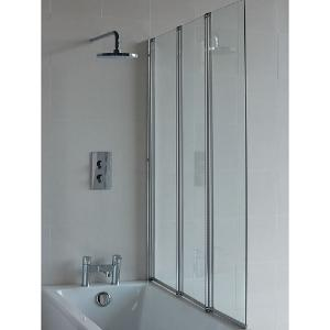 Britton Cleargreen Three Panel Bath Screen - BS4