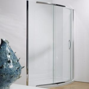 Kudos Infinite Bowed Chrome Slider 1200mm Side Access
