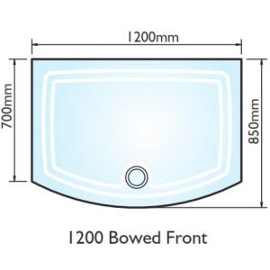 Kudos Concept 2 Bow Fronted Shower Tray 1200x700mm