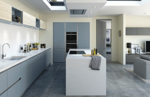 Linden Aluma - Denim Modern Kitchen