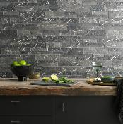 Verona Marmi Black Porcelain Splitface 160x394mm