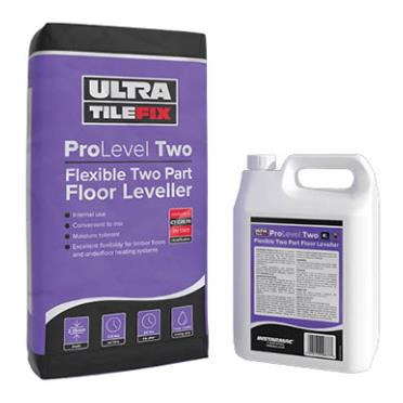 Ultra Floor Levelling Compound ProLevel Two High 20kg and 4 litre Bottle