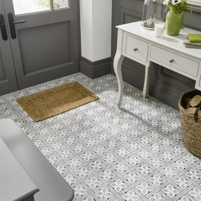 Laura Ashley Inspired Mr Jones Grey Floor Tile 33x33cm