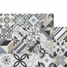 Rondine Swing Blue Mix Pattern Tiles 203x203mm