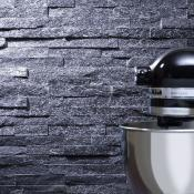 Splitface Black Sparkle Slate Cladding 10x36cm