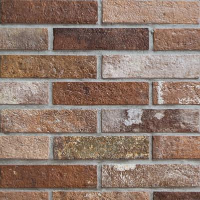 Antico Casale Brick Slips Natural Red Wall and Floor Tile 6x25cm