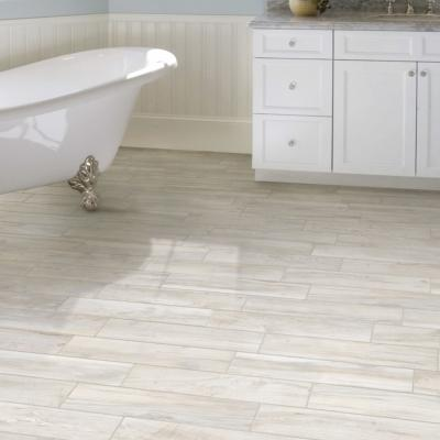 Rondine Living Bianco Wood Effect Porcelain Tile 7.5x45cm