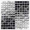 Verona Mosaic Chrome Pattern Glass Mosaic 30x30cm