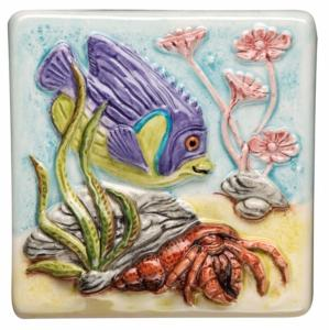 Original Style Coral Reef Emperor Fish Tile