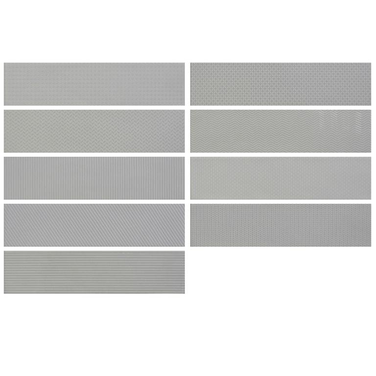 Crafted Gradient Patterns Grey Ceramic Wall 75x300mm
