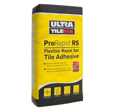Ultra Prorapid Rs Rapid Set Fleixble White Adhesive 20kg