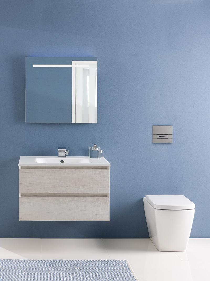 Calypso Brenta Limed Oak Wall Hung Vanity Unit 600mm | Tiles Ahead