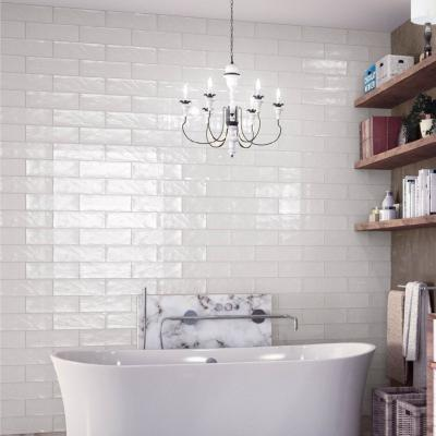 Boulevard White Wall Tile 10x30cm