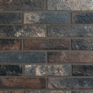 Antico Casale Brick Slips Natural Dark Wall and Floor Tile 6x25cm