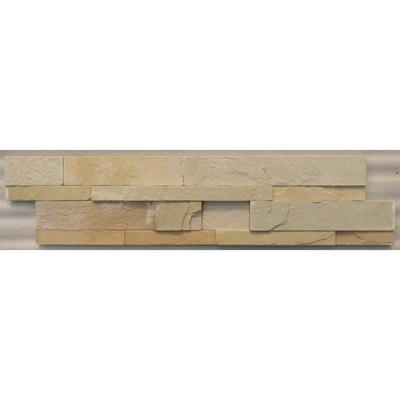 Splitface Desert Natural Stone Wall Cladding 15x60cm