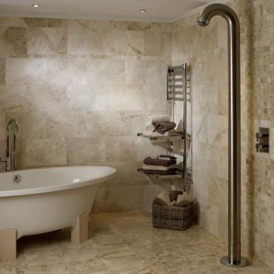 Polished Cappuccino Marble Bathroom Tiles