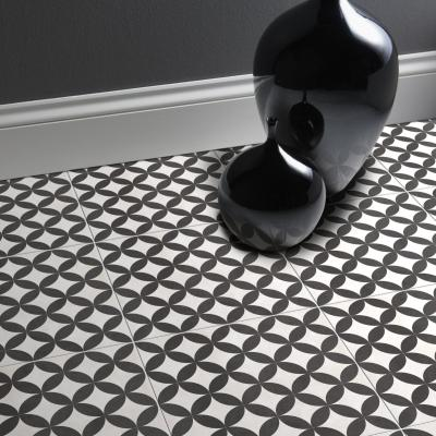 Devonstone Black & Ivory Matt Wall & Floor Tile 33x33cm