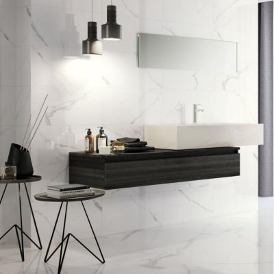 Carrara White Marble Matt Ceramic Wall Tile 30x60cm