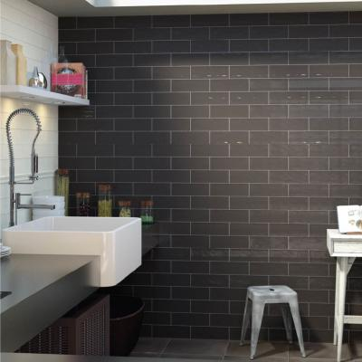 Boulevard Black Wall Tile 10x30cm