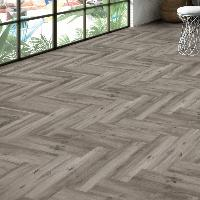 Ribera Grey Wood Effect Porcelain Tile 15x60cm