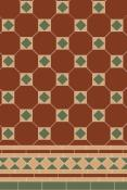 Original Style Victorian Arundel 3 Colour (Red/Green/Buff) Pattern