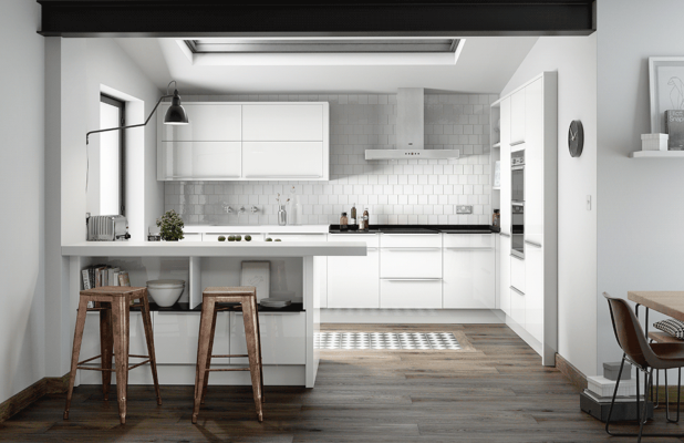 Bellever - Gloss White Kitchen