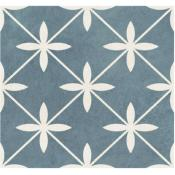 Laura Ashley Wicker Blue Tile 33.1x33.1cm