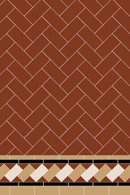 Original Style Victorian Scarborough Chevron Pattern