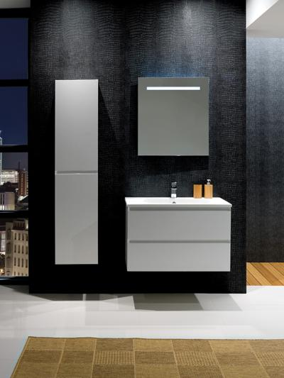 Calypso Brenta Pearly White Wall Hung Vanity Unit 800mm