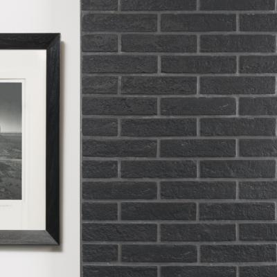 New York Black Brick Slips 6x25cm
