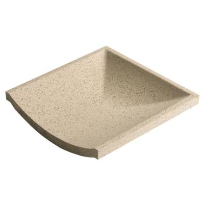 Dorset Channel Stop End Quartz Quarry Tile 15x15cm