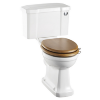 Burlington Close Coupled WC with Ceramic Lever