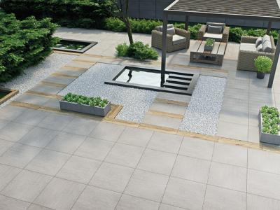 Krakow Medium Grey Outdoor Porcelain Tile 60x60cm