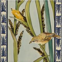 Original Style Artworks Birds & Rushes 5 Tile Set 15.2x15.2cm