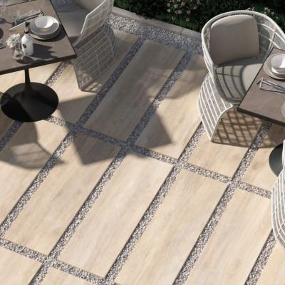 Rondine Greenwood Beige Outdoor Porcelain Tile 40x120cm