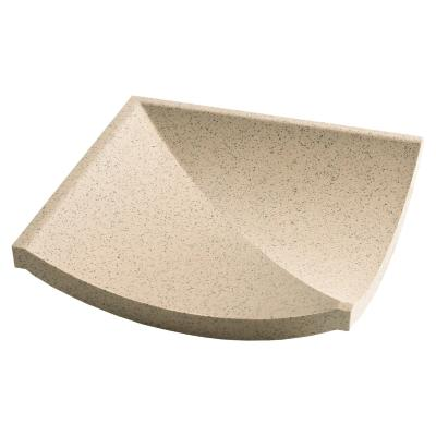 Dorset Channel Corner Quartz Quarry Tile 15x15cm
