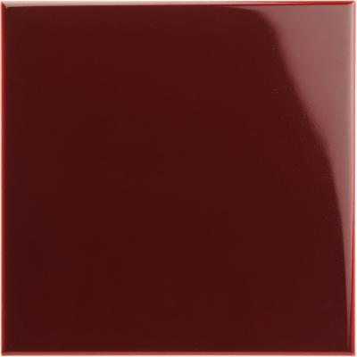 Original Style Artworks Field Tile Burgundy Gloss 15.2x15.2cm