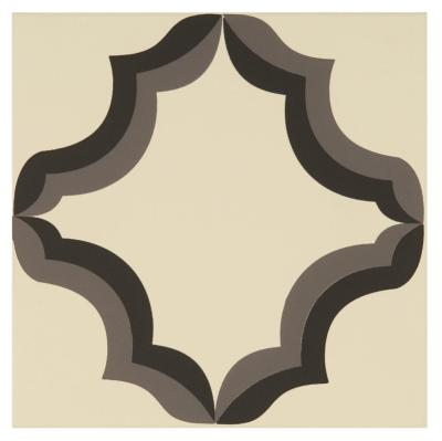 Original Style Odyssey Primo Persian Dark Grey and Black on White Tile