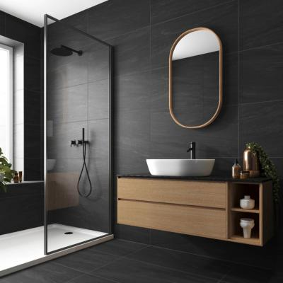 Grande Valmalenco Black Matt Porcelain Tile 450x900mm