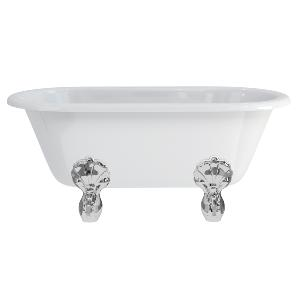 Burlington Windsor Double Ended Bath 1500 with Chrome Legs