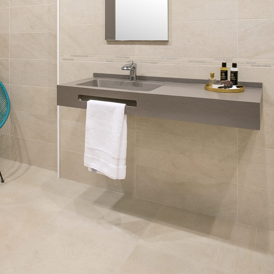 Beaufort Stone Look Contemporary Bathroom Tiles