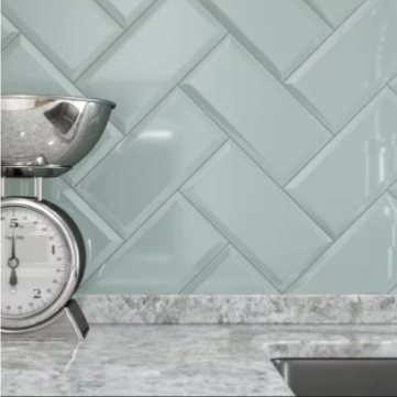 Metro Fern Gloss Wall Tile 10x20cm