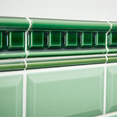 Original Style Artworks Dentil Moulding Victorian Green 5x15.2cm